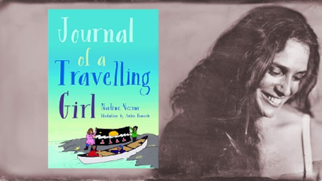 L'artiste Neema et son livre 'Journal of a travelling girl'.