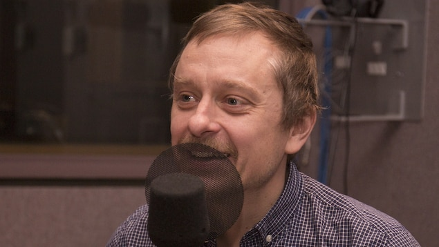 Jérémie McEwen au studio 30 de Radio-Canada, le 25 janvier 2018