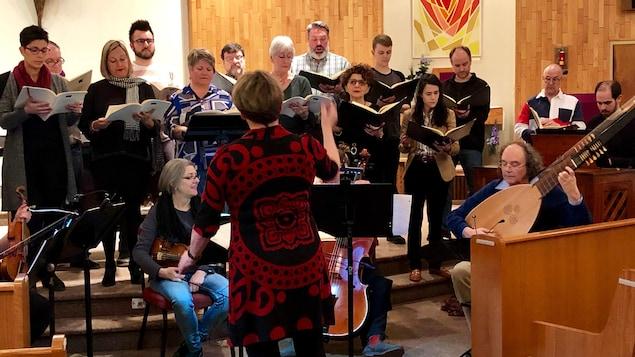 Le choeur Louisbourg en répétition
