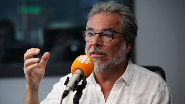Christian Bégin, en studio