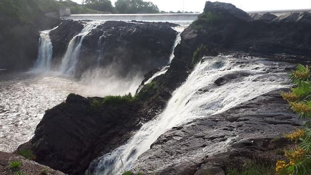 Les chutes de la rivière chaudière