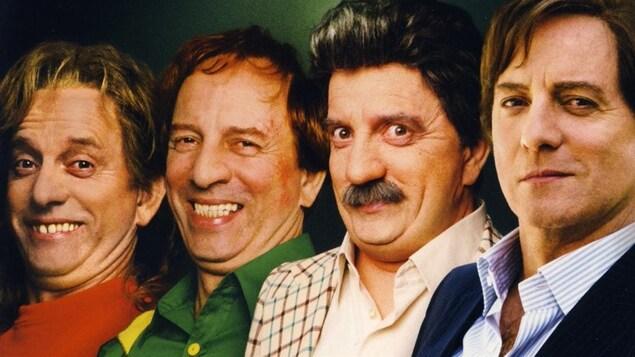 Quatre hommes joués par Michel Côté.