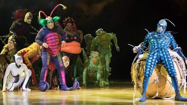 Les artistes du Cirque du Soleil