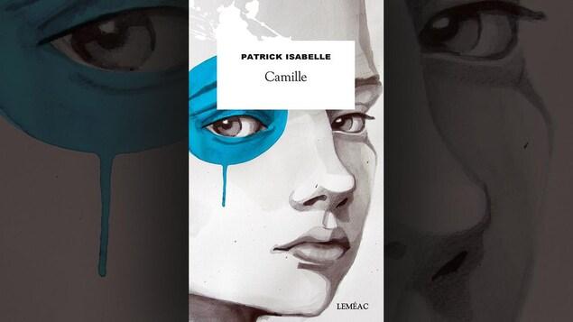 Illustration montrant un visage dont l'oeil est enduit de peinture bleue.