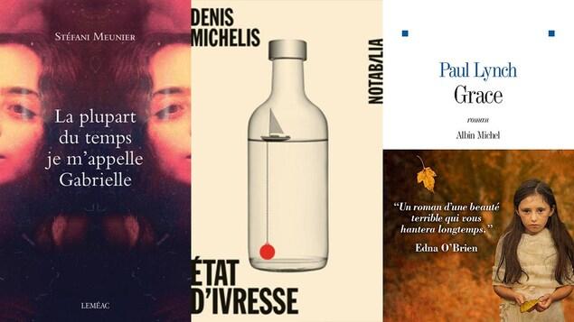 Les pages de couverture des trois livres du Club de lecture.