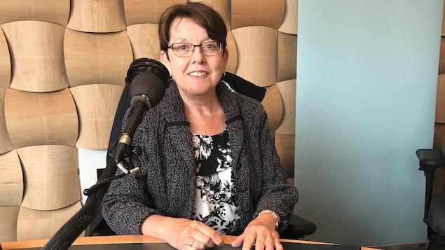 La Présidente du Comité organisateur du  Congrès mondial acadien 2019, Claudette Thériault.