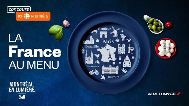 Cliquez pour découvrir les détails du concours La France au menu et notez l'indice du jour donné par l'animateur Patrick Masbourian entre 5 h 30 et 9 h.