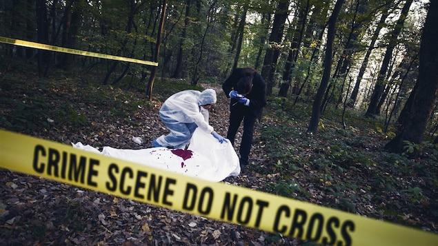 Une scène de crime