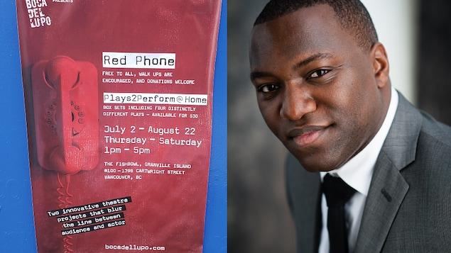 L'affiche de RED PHONE avec l'acteur et dramaturge Omari Newton.