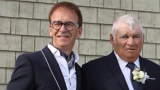 Dany Pagé et son père à un mariage