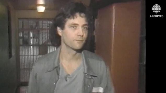 David Milgaard dans la prison de Stoney Mountain au Manitoba.