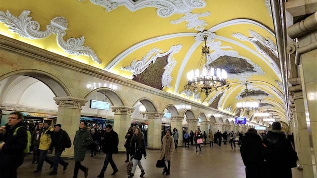 Station Komsomolskaya du métro de Moscou