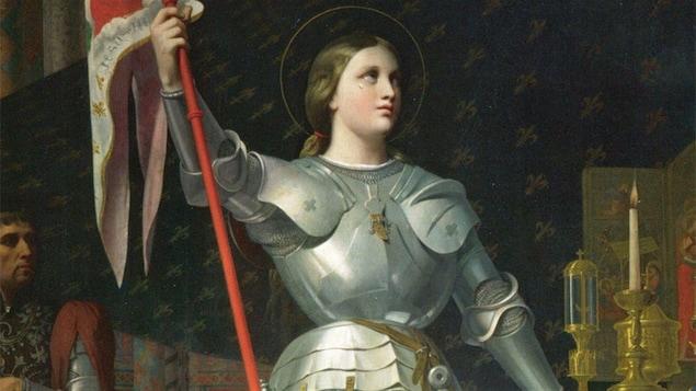 Jeanne d'Arc au sacre de Reims, par Dominique Ingres, 1854
