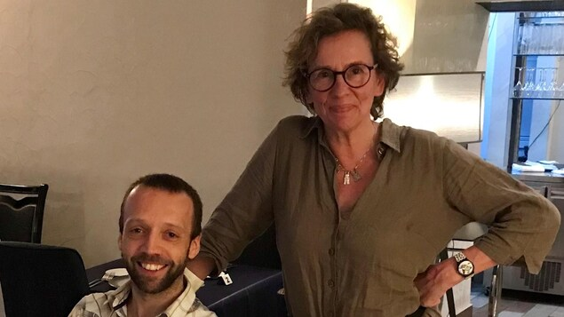 Christophe Bernard (g) et Françoise Wallemacq (d)