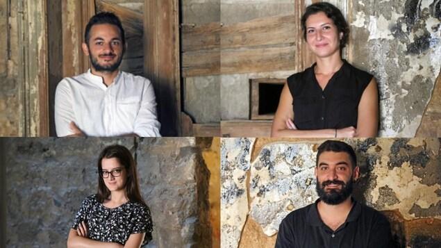 Mosaïque. Elie, Marwa, Ranine et Walid.