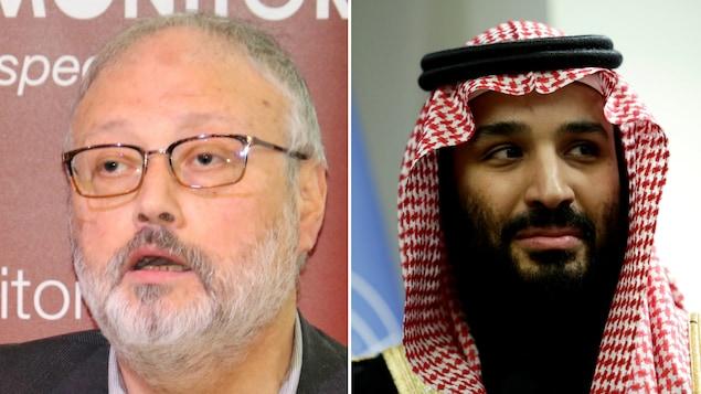Le journaliste Jamal Khashoggi et le dirigeant saoudien Mohammed Ben Salmane