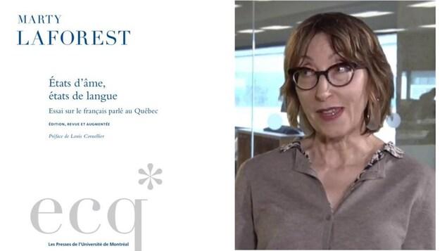 Le livre(d) États d'âme, états de langue –Essai sur le français parlé au Québec de Marty Laforest(g)