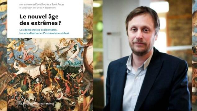 Page couverture du livre (g) « Le nouvel âge des extrêmes? avec l'un des co-auteur David Morin(d)