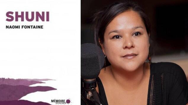 Page couverture (gauche) du nouveau roman de Naomi Fontaine (droite)