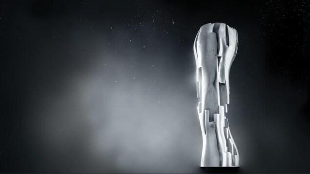 Le trophée Iris sur fond noir.
