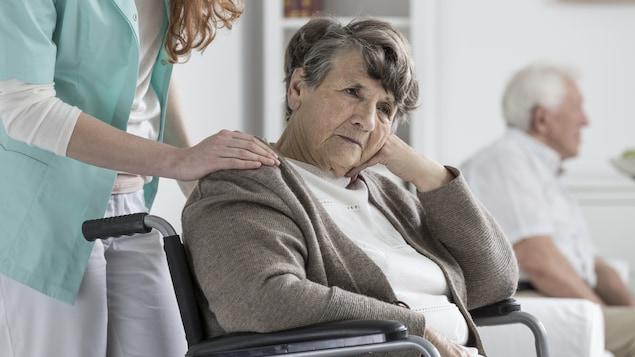 Une patiente souffrant de la maladie d'Alzheimer.