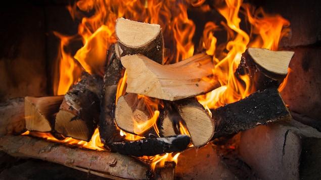 Les foyers au bois constituent une source importante de contaminants dans l'atmosphère.