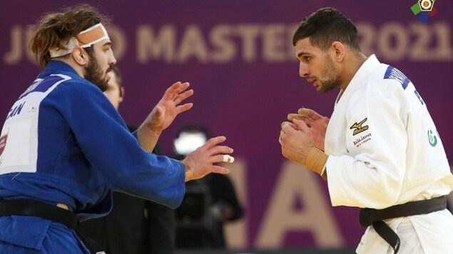 Deux judokas en combat