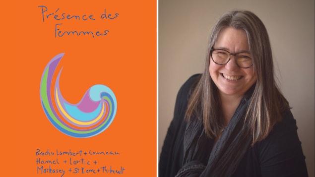 Affiche de l'exposition et portrait de Sabine Lecorre-Moore.