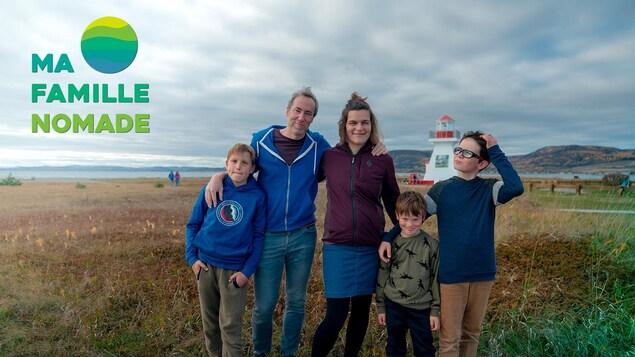 La famille Proulx-Labrie baptisée : Ma famille nomade prête pour l'aventure de six mois en voyage.