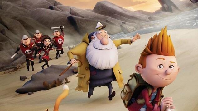 Affiche sur laquelle on voit les personnages du film d'animation Félix et le trésor de Morgäa.