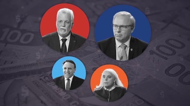 Les quatre chefs de parti