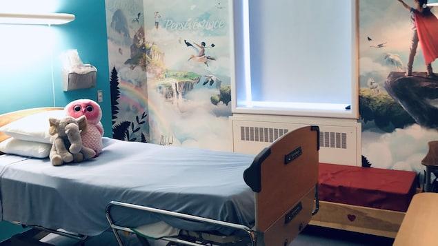 Une des trois chambres rénovées grâce à la fondation Élie Gauthier-Naud  au Centre hospitalier de Chandler.