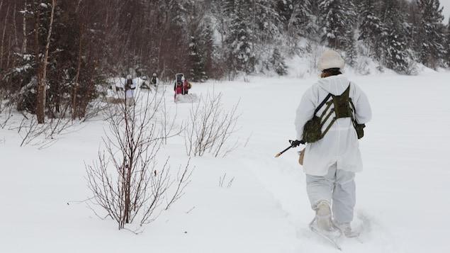 Une vingtaine de militaires participent à l'exercice appelé « sapeur polaire » à Rouyn-Noranda.