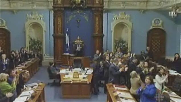 Les députés de la Chambre de commune au moment des excuses auprès des expropriés de Forillon,