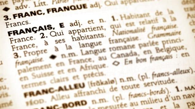 Un gros plan sur une page de dictionnaire montrant les définitions du mot français.