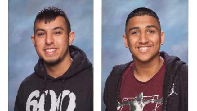 Deux portraits de jeunes garçons.