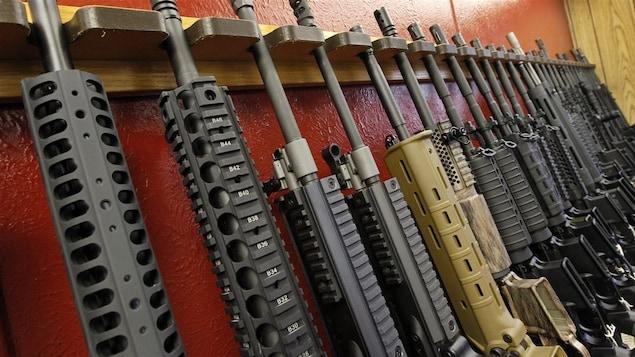 Quelques fusils AR-15