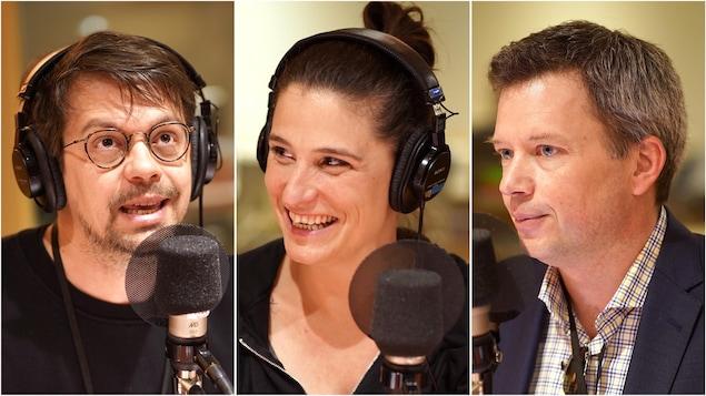 Guillaume Corbeil, Salomé Corbo et Louis Aucoin.