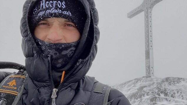 Gopal Ducharme en pleine expédition hivernale