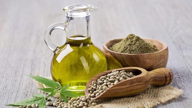 Grains de chanvre et huile de chanvre au délicat goût de noisette