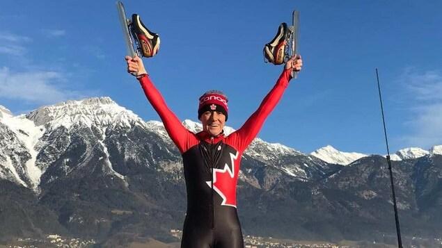 Guylaine Larouche, athlète renommée et appréciée en Estrie en cyclisme et en patin a récolté de médailles d'or au Jeux Mondiaux des maîtres cette semaine en Autriche