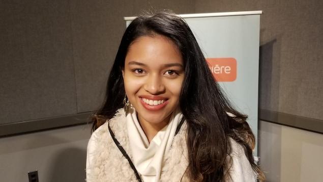 Marie Foolchand en entrevue à Radio-Canada à Toronto
