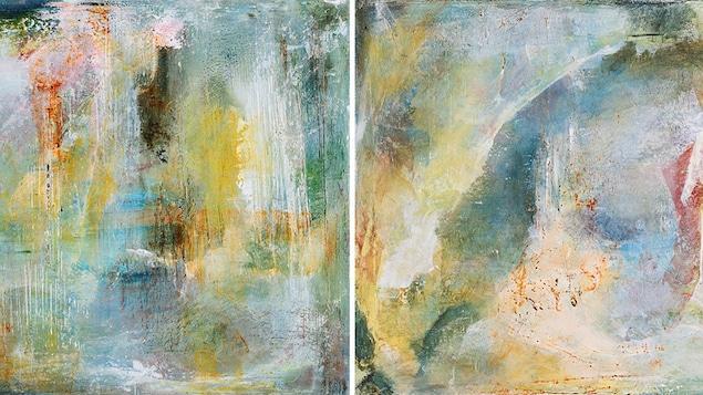 Deux oeuvres de Raymonde Fortin