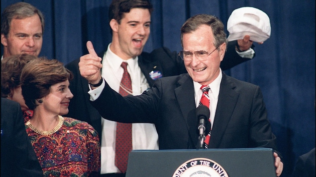 George H.W. Bush lors de l'élection de 1988.