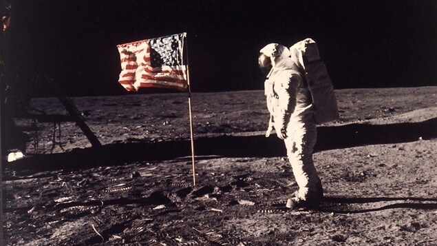 Buzz Aldrin, photographié par Neil Armstrong, le 20 juillet 1969.