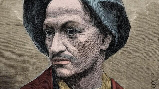 Gravure représentant le voleur français Louis Dominique Cartouche.