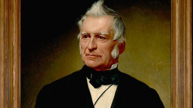 Détail d'un portrait de Louis-Joseph Papineau par Alfred Boisseau