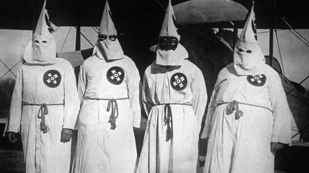 Des membres du Ku Klux Klan en 1922