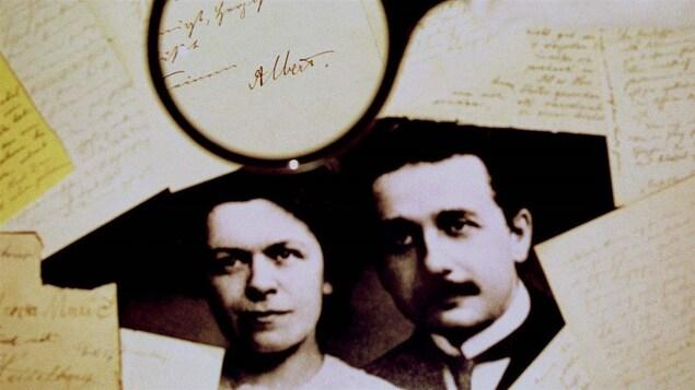 Albert Einstein et sa première femme, Mileva Marić.