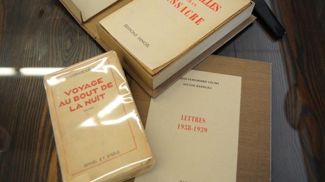 Les correspondances entre Louis-Ferdinand Céline et Victor Barbeau, ainsi que deux livres écrits par Céline.